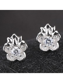 RAT1172 - Aksesoris Anting Silver Sweet Petal