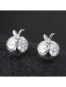 RAT1173 - Aksesoris Anting Silver Apple