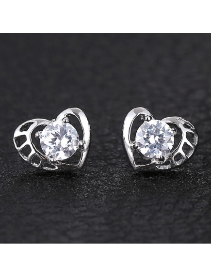 RAT1174 - Aksesoris Anting Silver Olive Love