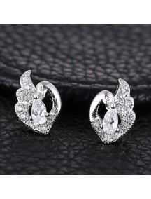 RAT1175 - Aksesoris Anting Silver Angel Love