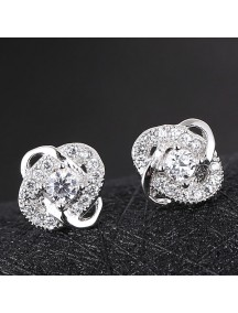 RAT1178 - Aksesoris Anting Silver Twist Elegant