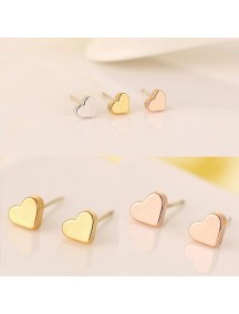RAT1179W - Aksesoris Anting Silver Simple Love