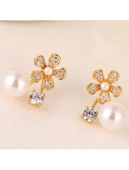 RAT1185 - Aksesoris Anting Flower Pearl