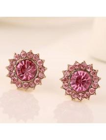 RAT1189 - Aksesoris Anting Pink Diamond Zircon