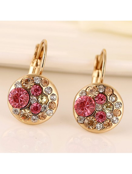 RAT1191 - Aksesoris Anting Flash Pink Zircon
