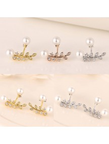 RAT1194W - Aksesoris Anting Floral Pearl