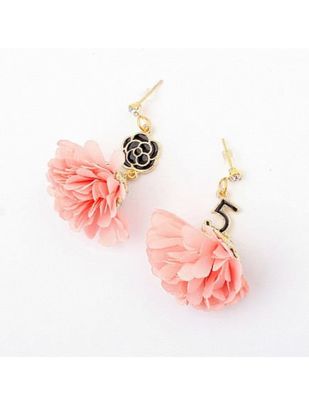 RAT3449 - Aksesoris Anting Rose Chiffon Flower