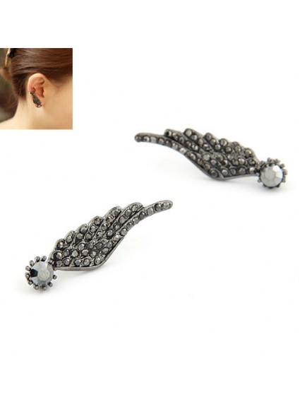 RAT3676 - Anting Sayap Black Wing