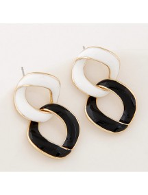 RAT6539 - Aksesoris Anting SImple Black White