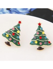 RAT7058 - Aksesoris Anting Flash Diamond Christmas Tree
