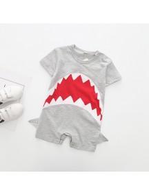 KA0088W - Baju Bayi Red Shark Romper Balita (Red Shark)