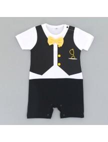KA0097W - Baju Bayi Vest Tie BW Romper Balita