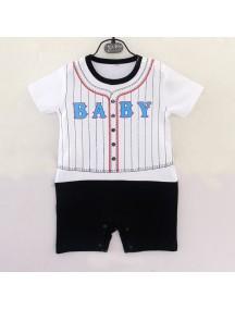 KA0102W - Baju Bayi Baseball Baby Romper Balita