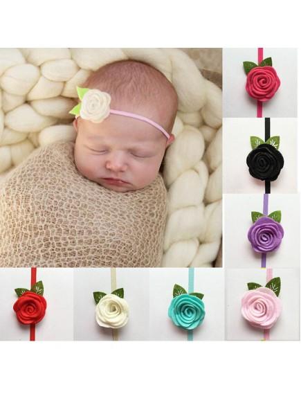 KA0111W - Aksesoris Bando Bayi Felt Sweet Rose Baby Headband