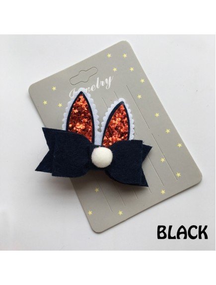 KA0113W - Aksesoris Rambut Bayi Glitter Bunny Baby Hairclip