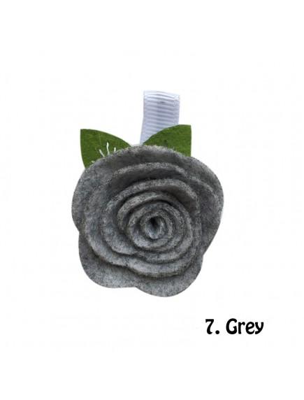 KA0114W - Aksesoris Rambut Bayi Felt Sweet Rose Baby Hairclip