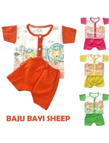 KA0120W - Baju Anak Bayi Sheep / Piyama Anak Set Pendek (18-24 bln)