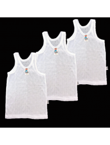 KA0124W - Kaos Singlet / Kaos Kutang Anak Bayi Putih Polos ZED