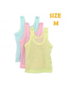 KA0126W - Kaos Singlet / Kaos Kutang Anak Bayi Warna Warni Polos (Size M)