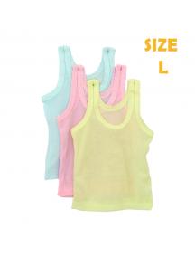 KA0127W - Kaos Singlet / Kaos Kutang Anak Bayi Warna Warni Polos (Size L)
