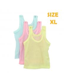 KA0128W - Kaos Singlet / Kaos Kutang Anak Bayi Warna Warni Polos (Size XL)