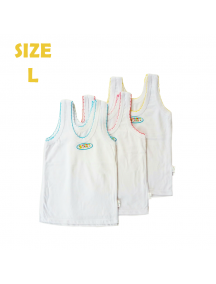 KA0131W - Kaos Singlet / Kaos Kutang Anak Bayi Polos Wonder (Size L)