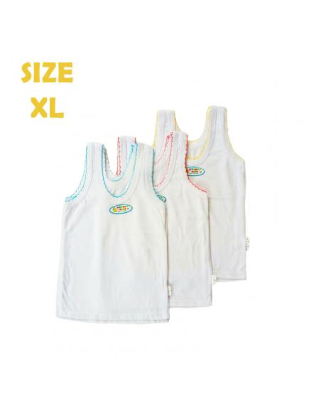 KA0132W - Kaos Singlet / Kaos Kutang Anak Bayi Polos Wonder (Size XL)