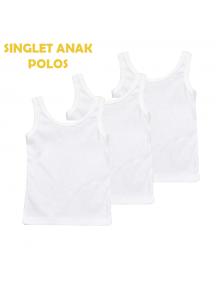 KA0133W - Kaos Singlet / Kaos Kutang Anak Bayi Polos S-XL