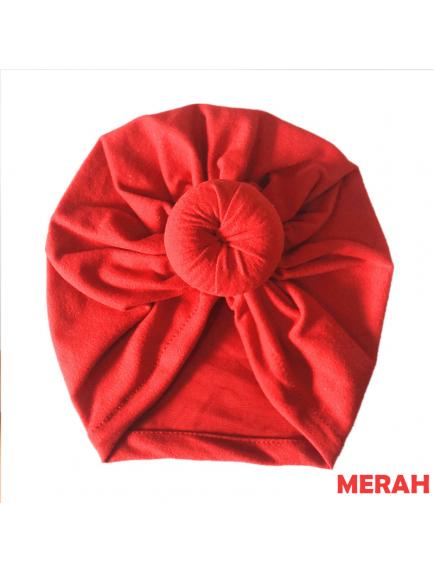 KA0134W - Aksesoris Turban Bayi Katun Round Knot