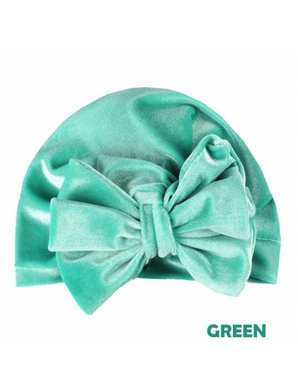 KA0135W - Aksesoris Turban Bayi Velvet Bow Knot