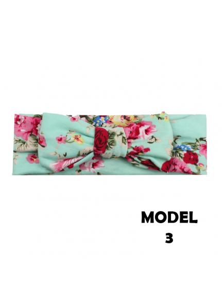 KA0138W - Aksesoris Bando Bayi Bunga Bandana Flower Knot