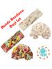 KA0140W - Aksesoris Bando Bandana Turban Bayi Flower Set 2in1