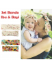 KA0141W - Aksesoris Bando Bandana Matching Ibu & Bayi Flower Set 2in1