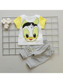 KA0144W - Baju Anak Bayi Summer Duck T-Shirt Set Celana Panjang