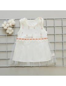 KA0145W - Baju Pesta Anak Bayi Perempuan Rok Tule Putih
