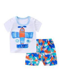 KA0148W - Baju Anak Bayi Summer Fly T-Shirt Set Celana Pendek