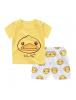KA0151W - Baju Anak Bayi Yellow Duck T-Shirt Set Celana Pendek