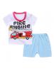 KA0152W - Baju Anak Bayi Firefighter T-Shirt Set Celana Pendek