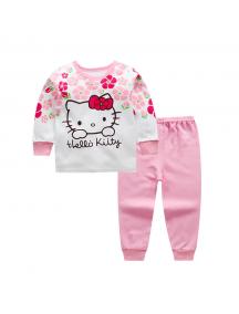 KA0154W - Baju Anak Bayi Piyama Hello Kitty Set Celana Panjang