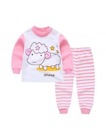 KA0155W - Baju Anak Bayi Piyama Sheep Set Celana Panjang