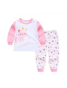 KA0156W - Baju Anak Bayi Piyama Sweet Cat Set Celana Panjang
