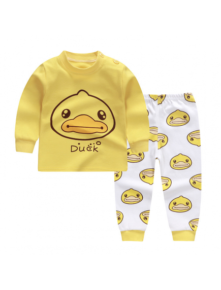 KA0158W - Baju Anak Bayi Piyama Yellow Duck Set Celana Panjang
