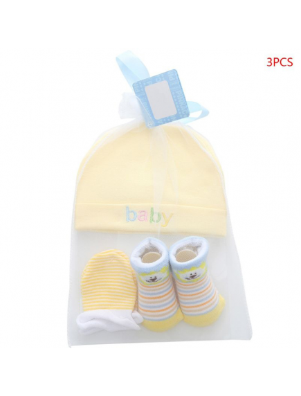 KA0161W - Premium Gift Set Topi, Sarung Tangan, Kaus Kaki Bayi Newborn