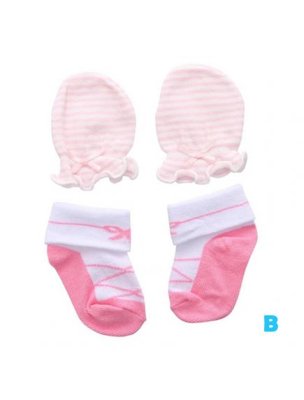 KA0164W - Kaus Kaki Sarung Tangan Bayi Perempuan Newborn Set