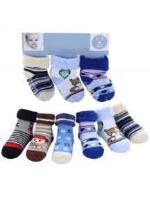 KA0166 - Carter's Kaus Kaki Bayi Anti Slip Newborn Set (Random Motif)