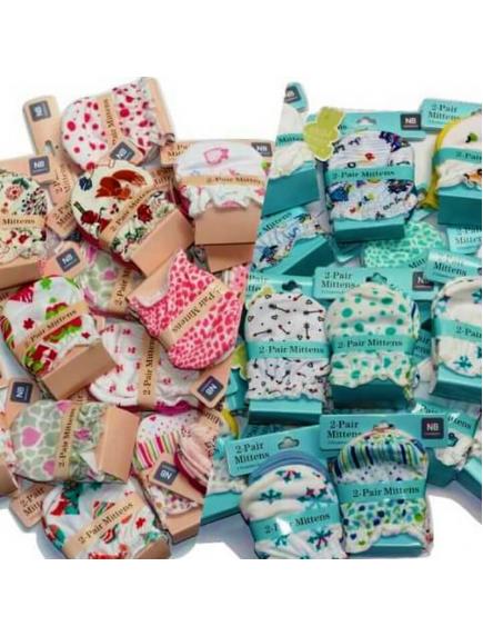 KA0167W - Carter's Sarung Tangan Bayi Mitten Newborn Set (2 Pasang/Set)