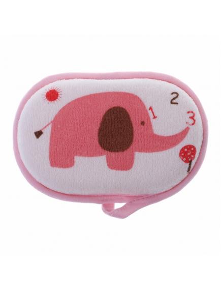 KA0170W - Spons Mandi Busa Cotton Bayi / Baby Bath Sponge Elephant