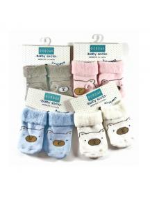 KA0172W - Baby Newborn Socks / Kaus Kaki Bayi Super Lembut