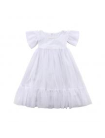 KA0179W - Baju Anak Perempuan Tutu Dress White