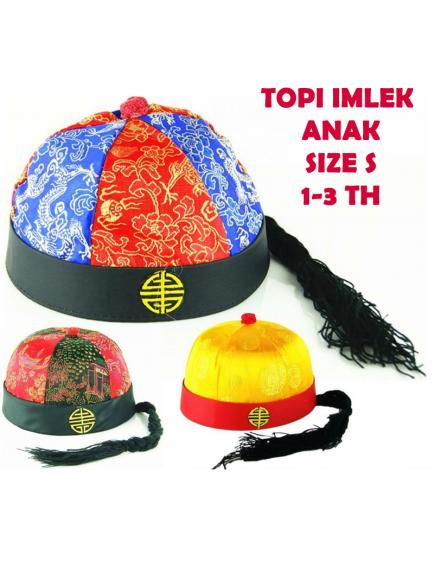 KA0180 - Topi Imlek Anak & Bayi Cheongsam Ekor Size S (Random Color)
